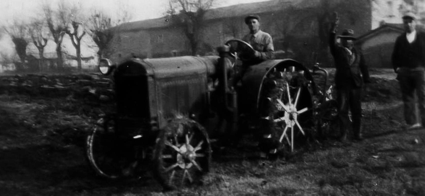 Renato Malservisi su trattore
