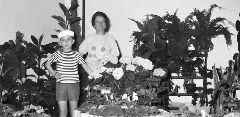 Alberghini Sara e il figlio Vincenzo alla Fiera di Giugno del '66