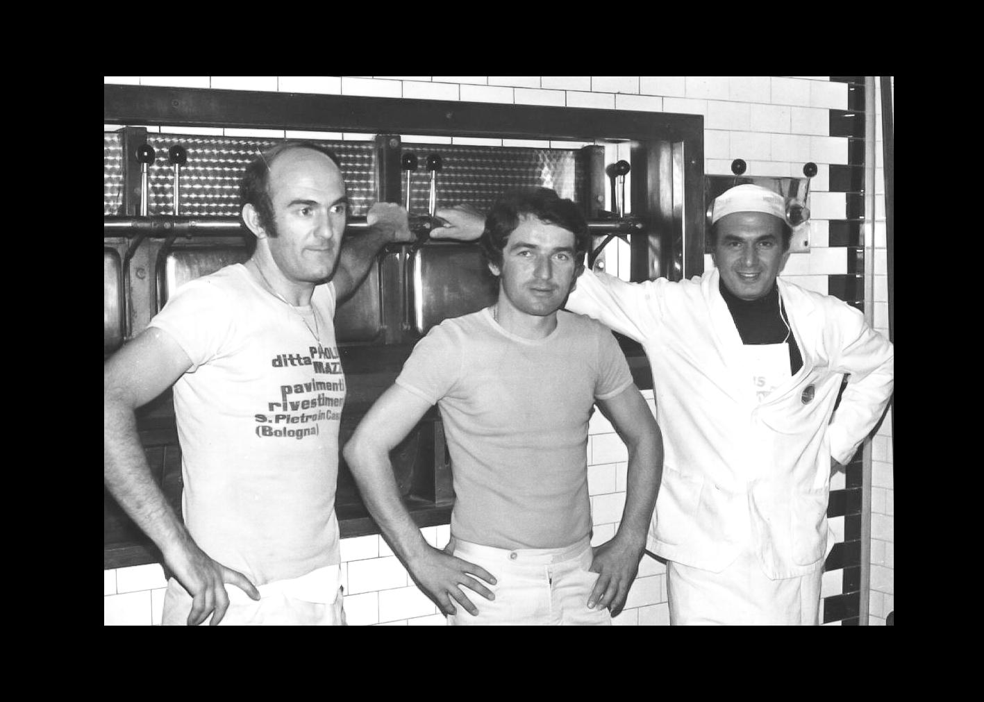 Giorgio e Luciano Minarelli con garzone
