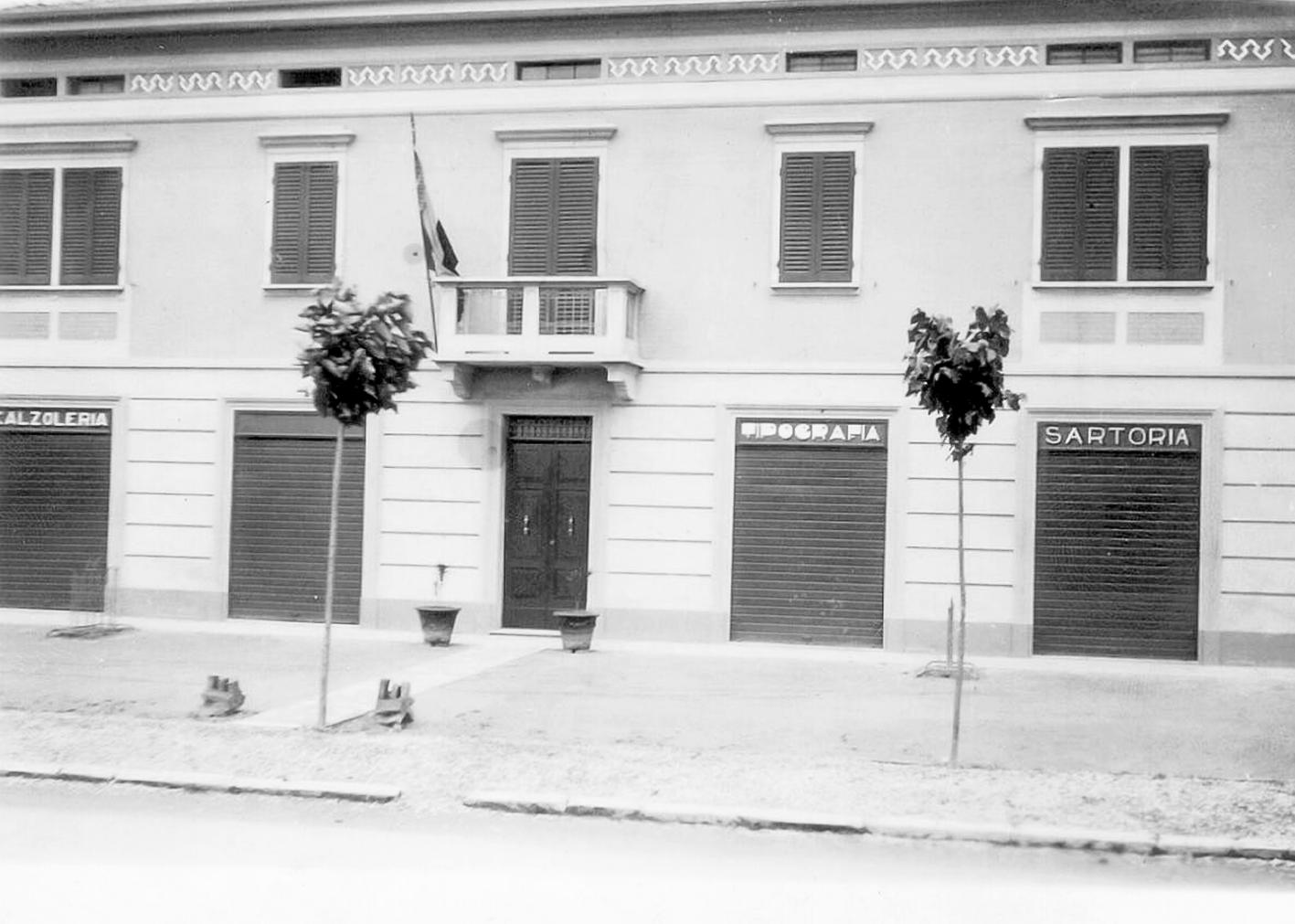 Frontale di casa Marvelli nei primi anni trenta