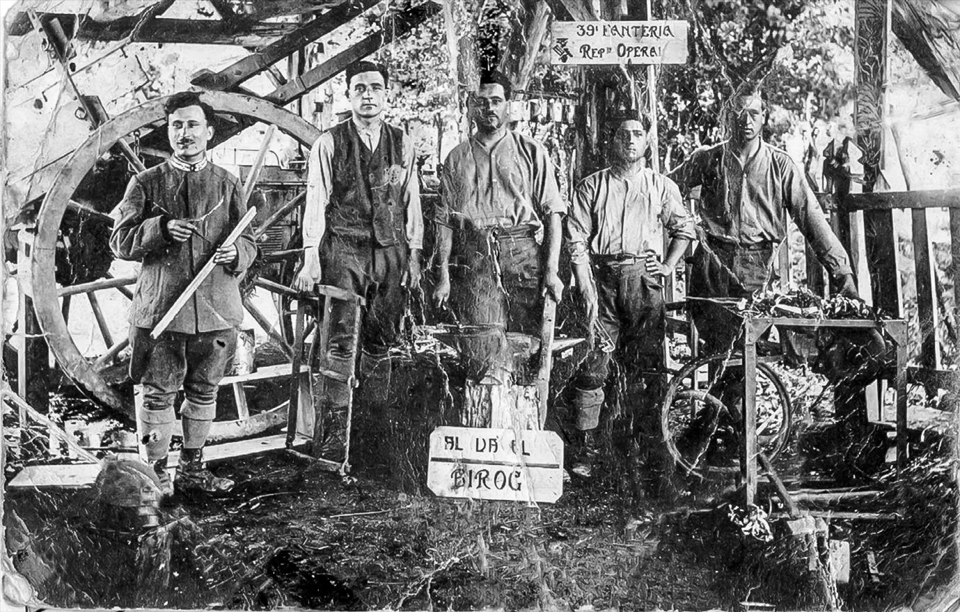 Falegnameria Cavicchi durante la Grande guerra