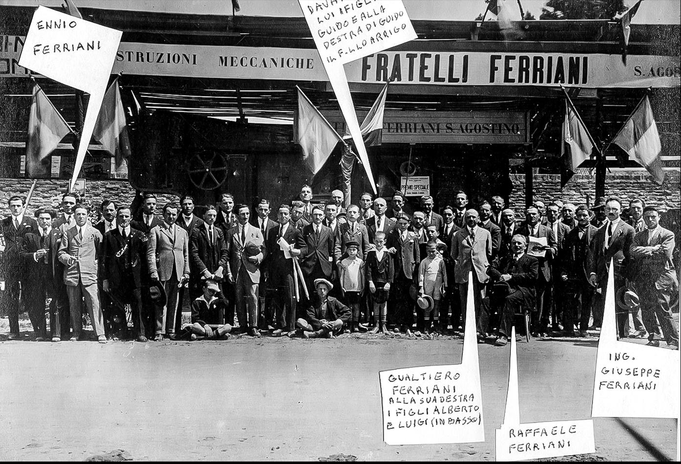 1924 Industrie Ferriani e maestranze a Ferrara