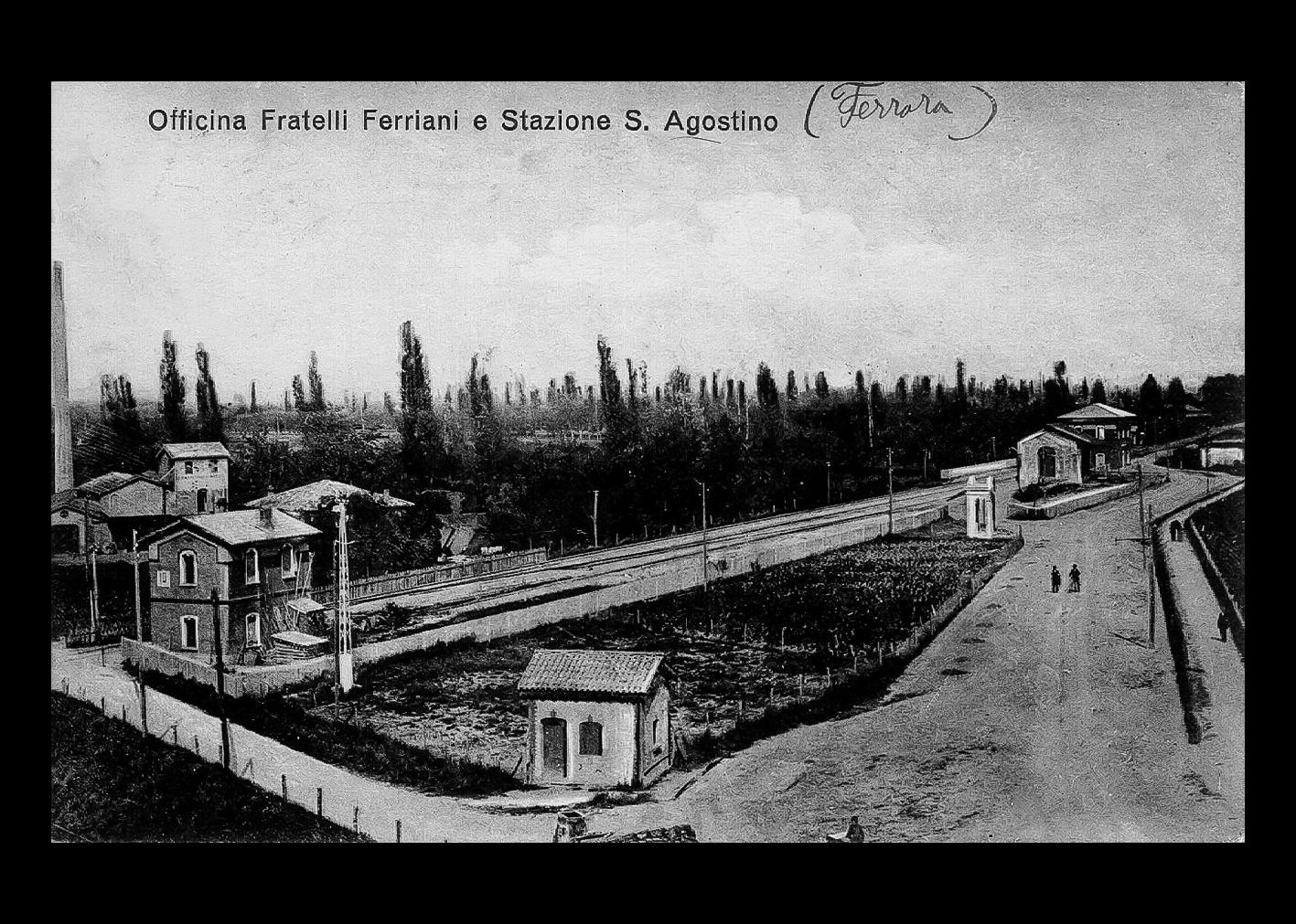 Panoramica officine Ferriani e stazione