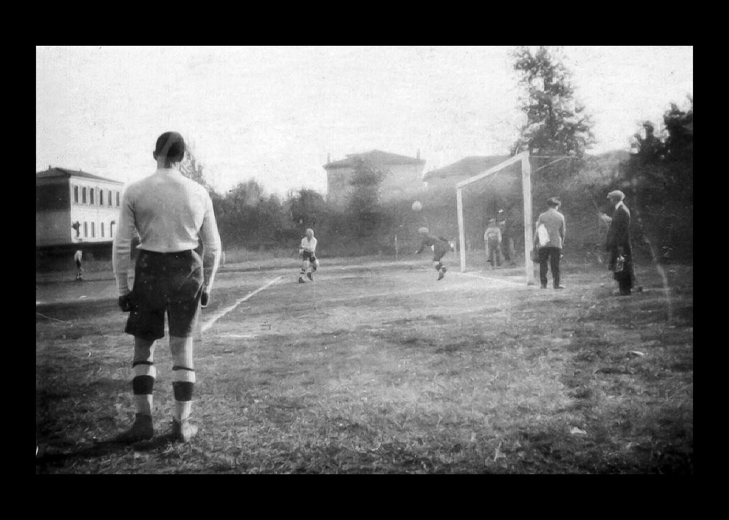 Scorcio di una partita di calcio
