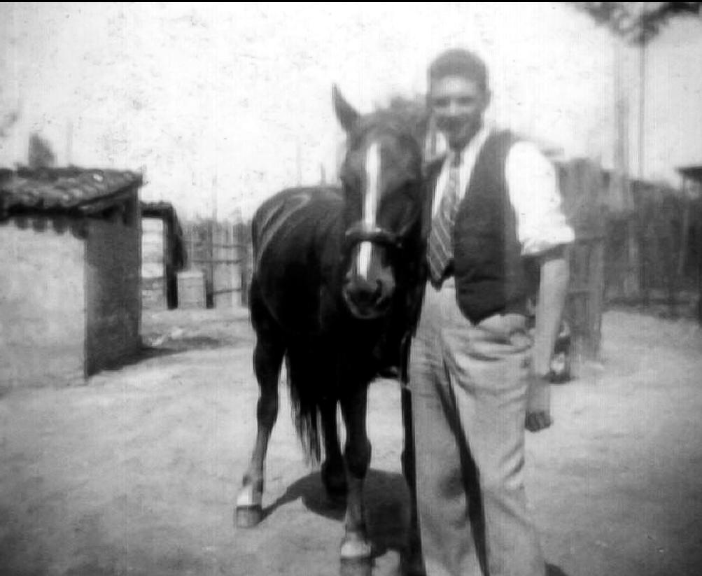 Luciano Govoni e il cavallo Cipro