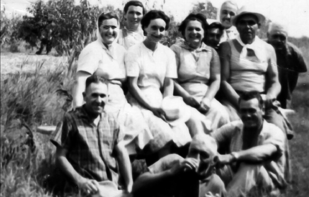 Gruppo nella tenuta Fenati