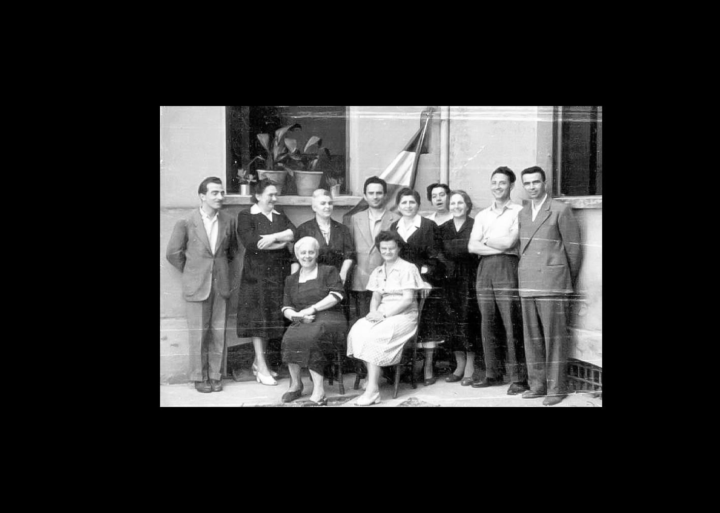 Gli insegnanti della scuola elementare di S.Agostino nel 1950