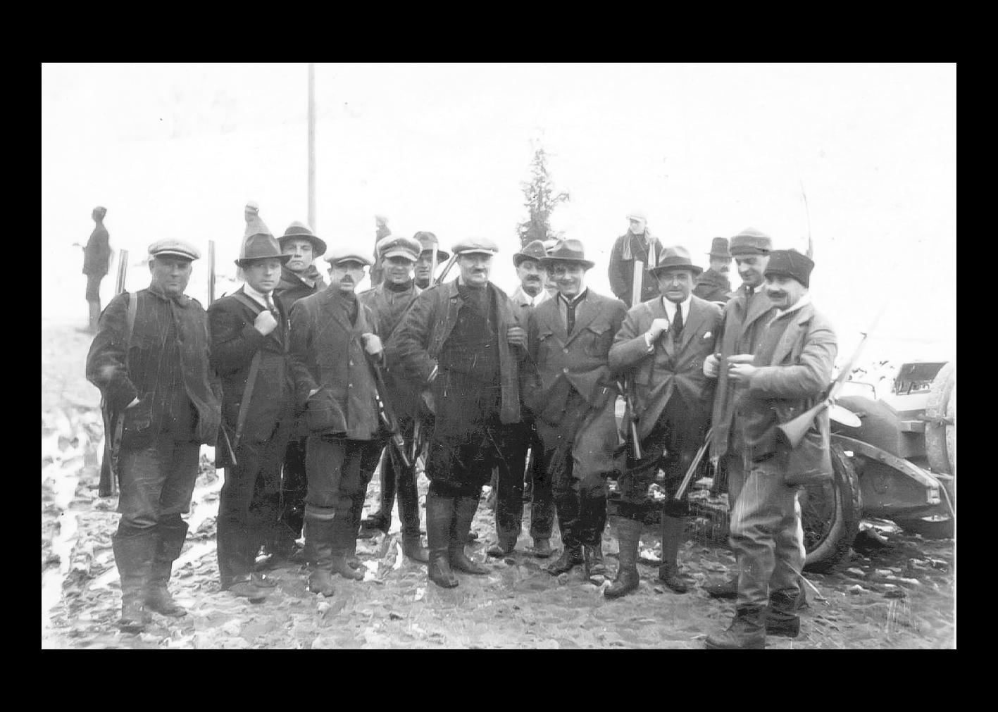 Battuta di caccia alla volpe nel 1925