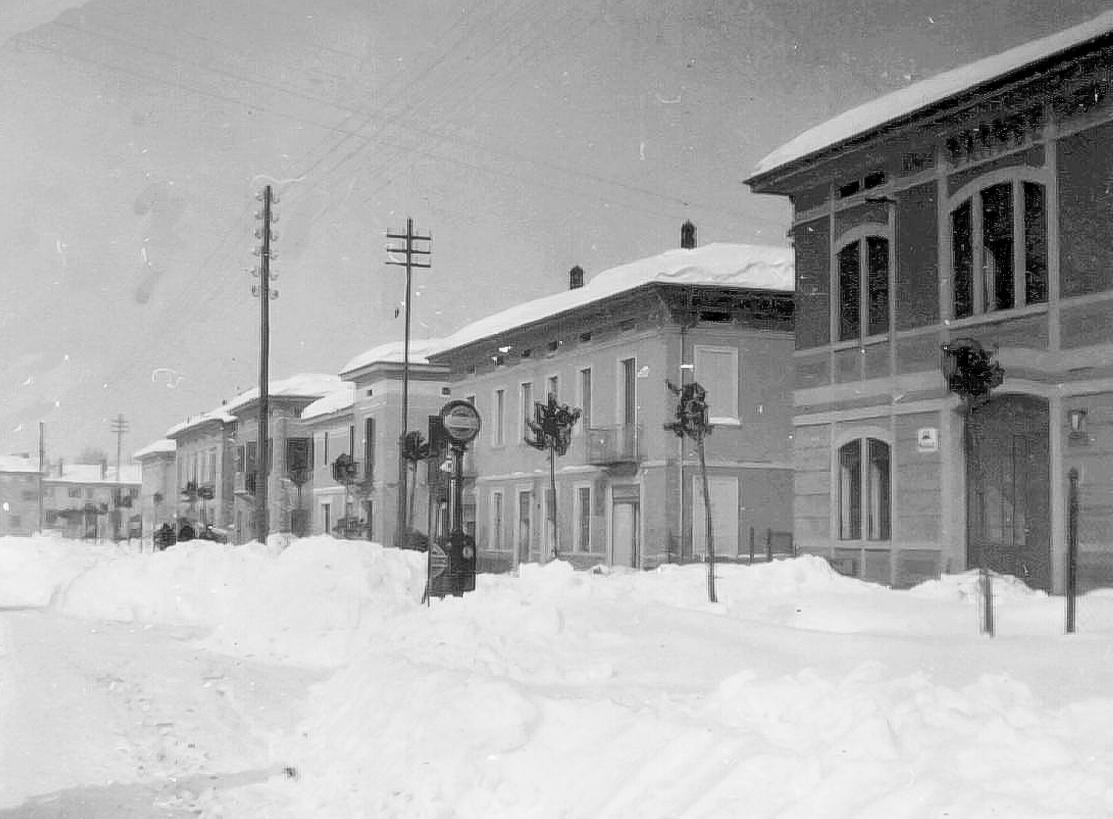 Nevicata in Corso Roma nel 1929