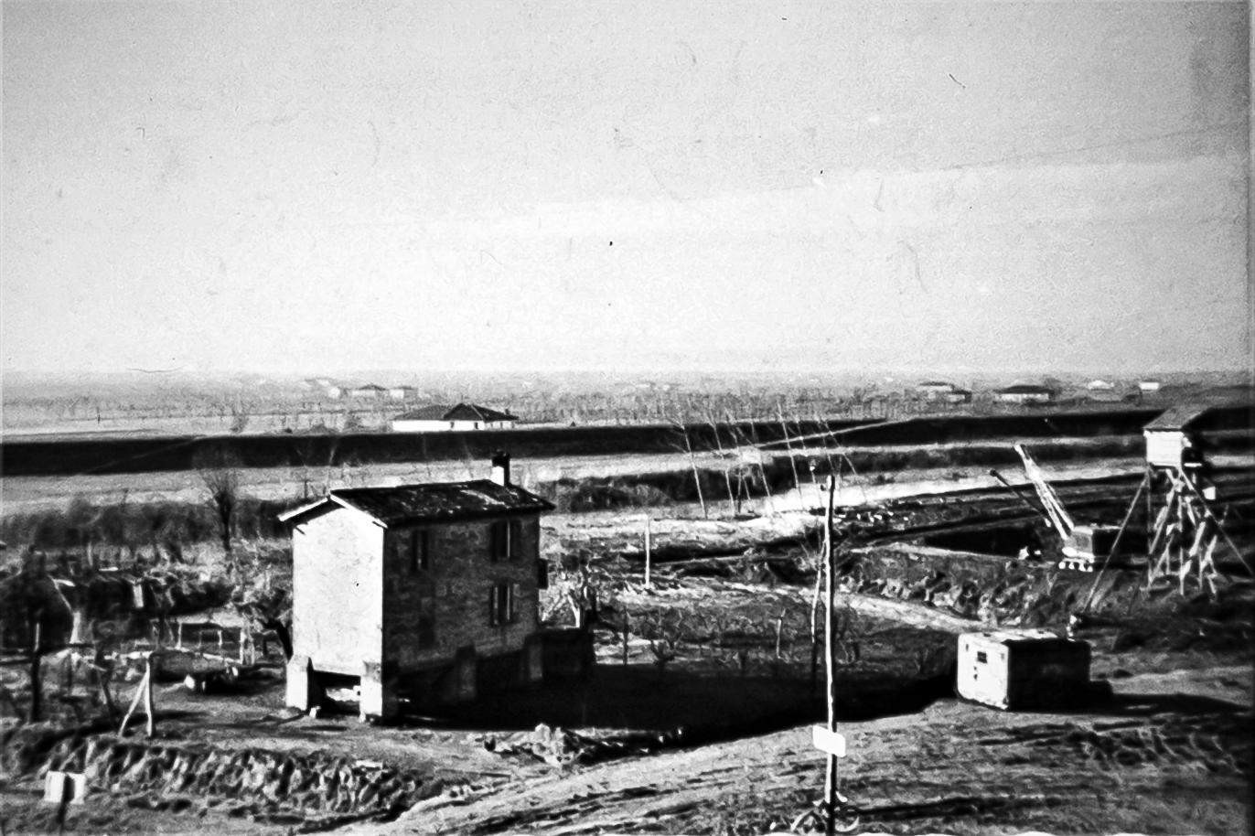 La casa del passatore e un tratto del Reno